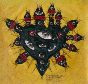 Guy Harloff_Je voudrais voir mon coeur... i disegni dopo l'infarto_1975_lancio