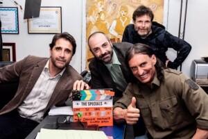 Gli-Speciali-il-regista-daniele-malavolta-claudio-de-falco-gianni-lillo-e-ivan-castiglione